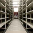 Mobile shelves in a modern storehouse — Stock Photo #6365081