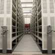 Mobile shelves in a modern storehouse — Stock Photo #6365084