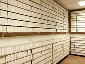 Microfilm archives interior — Stock Photo