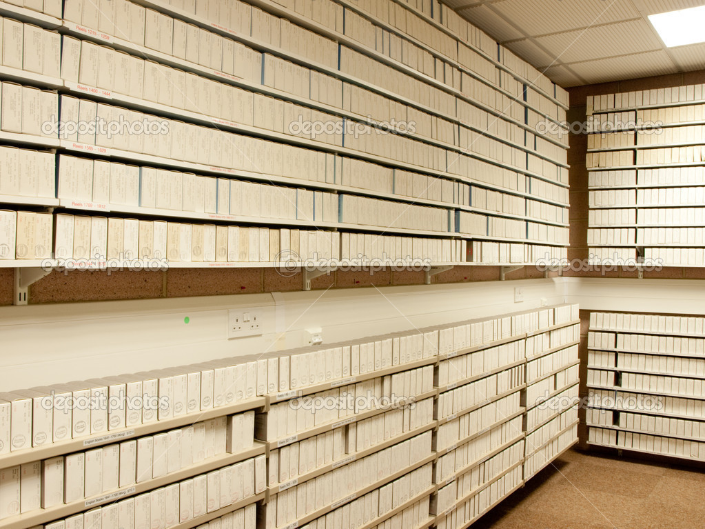 Microfilm archives interior — Stock Photo #6365067