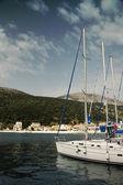 Agia Efimia port — Stock Photo