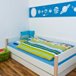 childrens playroom with bed — Stock Photo