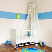 Baby nursery with bed — Стоковое фото