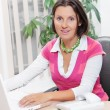 Cute Young Business Woman Speaking On Phone — Stock Photo