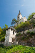 Tower Medieval castle Hohostervits, Austria — Stock Photo