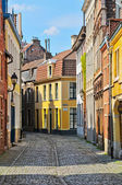 A typical Dutch street in the Delph. Netherlands — Stock Photo
