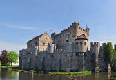 Medieval Gravensteen Castle In Gent — Stock Photo