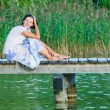 Young Woman On Pier — Stock Photo #5603266