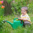 Young Boy In The Garden - Stock Photo