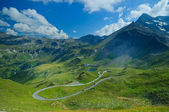 Bird's-eye view on the Grossglockner-highway — Stock Photo