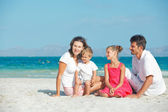 Portrait of happy young family — Stock Photo