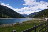 Reservoir in South Tyrol — Stock Photo