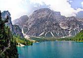 Hike around the Lake Braies — Stock Photo