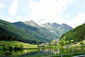 The small pond by Muehlwald, Italy — Stock Photo