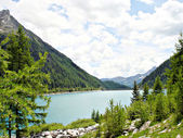 Neves Reservoir in the Zillertal Alps — Stock Photo