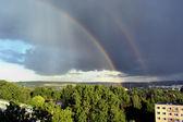 A double rainbow — Stock Photo