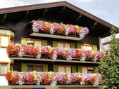 A typical house-front in Tirol — Stock Photo