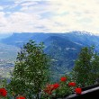 View of Merano and the Vinschgau — Stock Photo