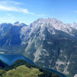 Watzmann-massif with Koenigssee — Stock Photo