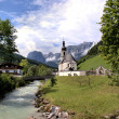 Church in the German Alps — Stock Photo