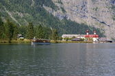 Electric boats on the Koenigssee — Stock Photo
