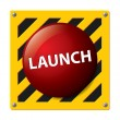 Launch button vector — Stock Vector