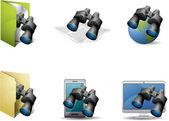 Conjunto de ícones de busca — Vetorial Stock