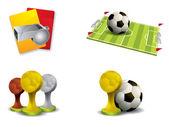 Icona calcio set vettoriale — Vettoriale Stock