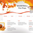 Basketball web site design template — Stock Vector