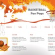 Basketball web site design template — Stock Vector #5776104