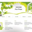 Soccer web site design template — Stock Vector #5781883