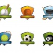 Sport badges and icons collection — Stock Vector