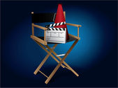 Movie director chair — Stock Vector