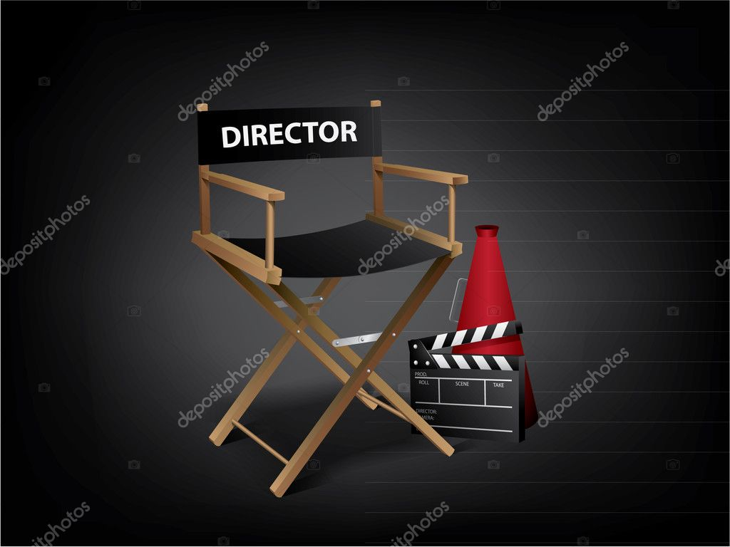 Movie director chair — Stock Vector #5954198
