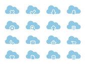 Vector icone per il cloud computing — Vettoriale Stock