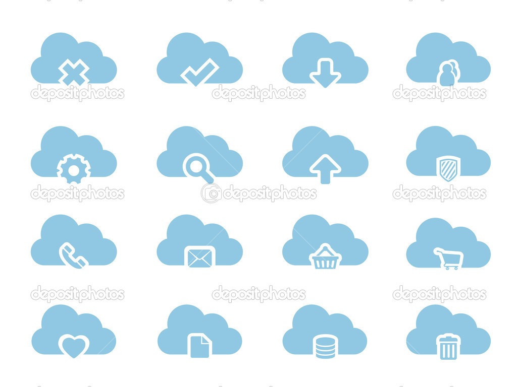 Vector Icons for Cloud Computing — Stock Vector #6006515