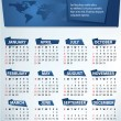 Calendar for 2012 vector — Stock Vector #6172532