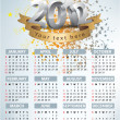 Calendar for 2012 vector — Stock Vector