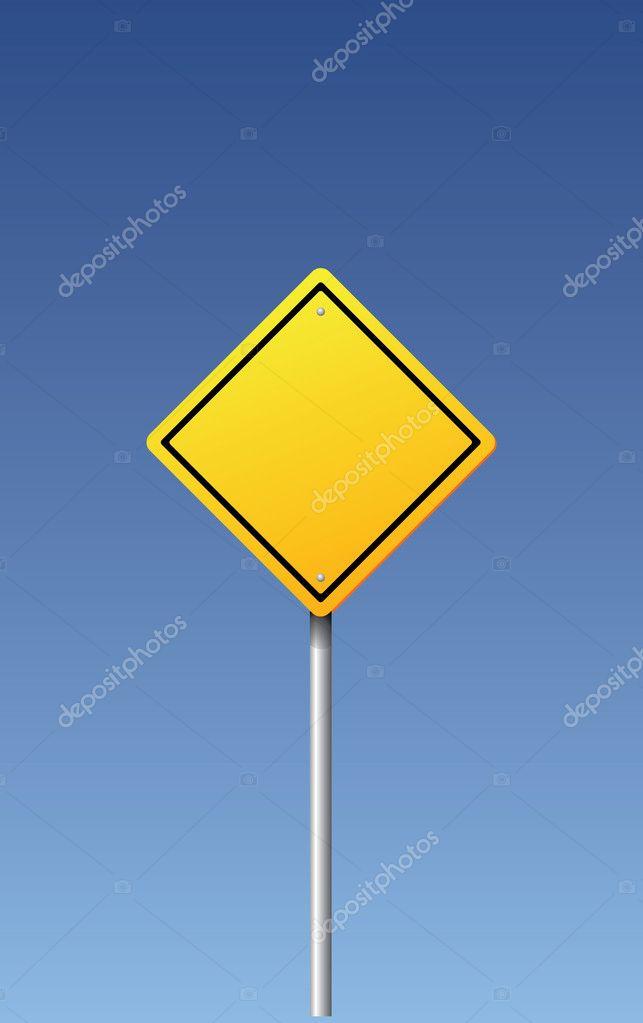 矢量道路标志-空白