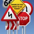 Vector road signs - 