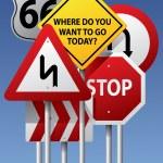 vektör yol işaretleri — Stok Vektör