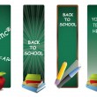Back to school vertical banners - Stok Vektör