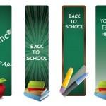 Back to school vertical banners — Stock Vector