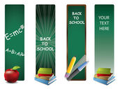 Back to school vertical banners — Stock Vector
