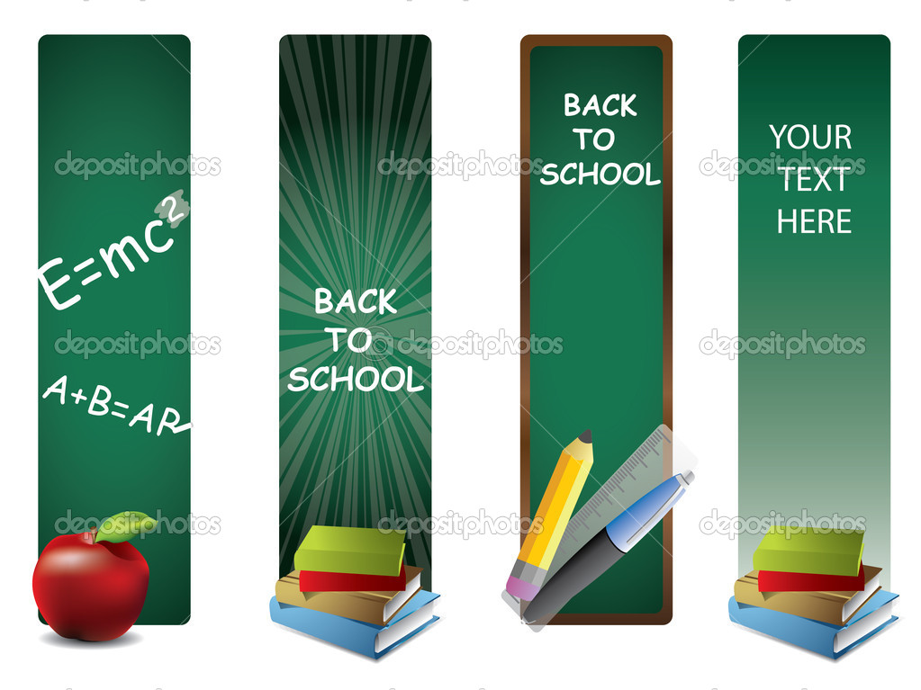 Back to school vertical banners — Stock Vector #6518761