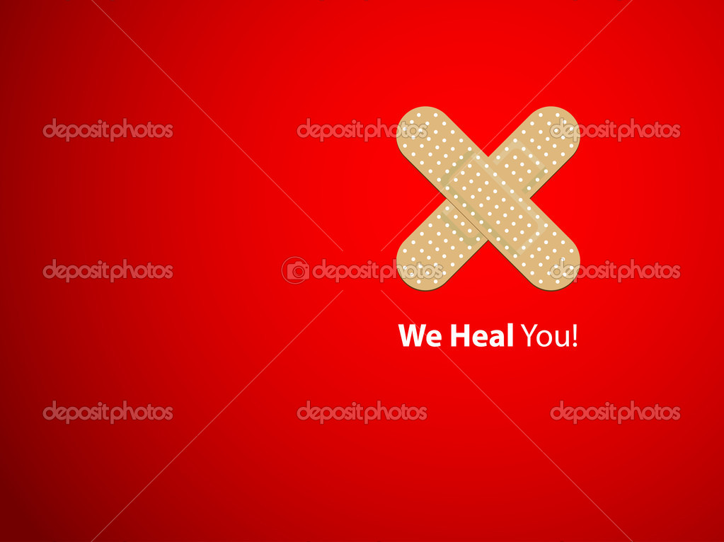 We heal you - background — Stock Vector #6733930