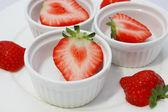 Cut strawberry — Stock Photo