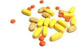Pílulas diferentes — Fotografia Stock
