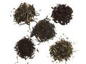 Black, green and white tea — Stock Photo