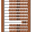 Vector old wooden abacus — Stockvectorbeeld